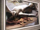 Nimfa III 76x65 cm Peisaj marin tablou nud femeie pictura ulei pe panza 100%
