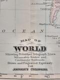 Harta a lumii (planiglob), tiparitura originala din anul 1896