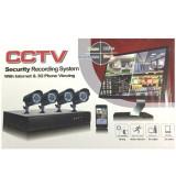 Sistem Supraveghere 4 Camere Video Exterior Infrarosu DVR Internet D1