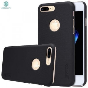 Husa Nillkin Super Frosted Shield Neagra Folie Sticla Pentru Iphone 7 PlusIphone 8 Plus