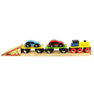 Trenulet cu platforma auto, sistem de prindere pe baza de magneti, 30 cm lungime foto