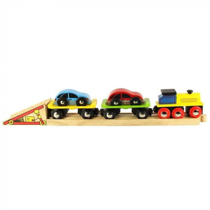Trenulet cu platforma auto, sistem de prindere pe baza de magneti, 30 cm lungime
