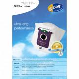 Set saci sintetici Electrolux E201B s-bag universal compatibili cu aspiratoare Philips si Electrolux, 4 buc