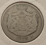 2 Lei 1873 Argint, Romania F