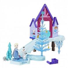 Set papusa,topogan si accesorii, Frozen, 35x7x34 cm, multicolor