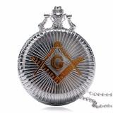 Ceas De Buzunar Retro masonic Illuminati Masonerie  Francmasonerie  Freemason