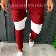 Pantaloni de trening pentru barbati - slim fit -grena- A5968, Din imagine
