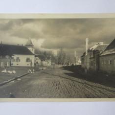 Rara! Carte postala foto Ghimbav/Brasov anii 40-biserica protestanta,circ.1951