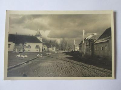Rara! Carte postala foto Ghimbav/Brasov anii 40-biserica protestanta,circ.1951 foto