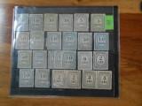 Lot timbre Taxa de plata, diferite valori, cu si fara filigran, Nestampilat