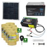 Gard electric cu Panou solar 3,1J putere cu 7000m Fir 160Kg cu acumulator 12Ah
