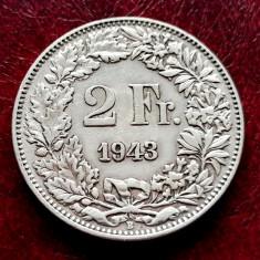 ELVETIA - 2 Franci 1943 B ( Francs - Franken ) Argint