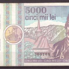 Romania 1992 martie - 5000 lei, F-VF