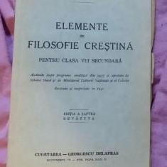 Elemente de filosofie crestina pentru clasa VIII secundara / Irineu Mihalcescu