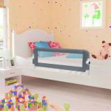 Balustradă de protecție pat copii, gri, 102 x 42 cm, poliester, vidaXL