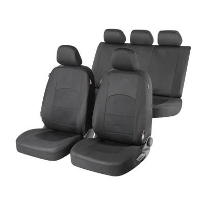 Huse auto Walser Derby,negru,16 piese,sistem zipp-it premium,side-airbag compatibil foto