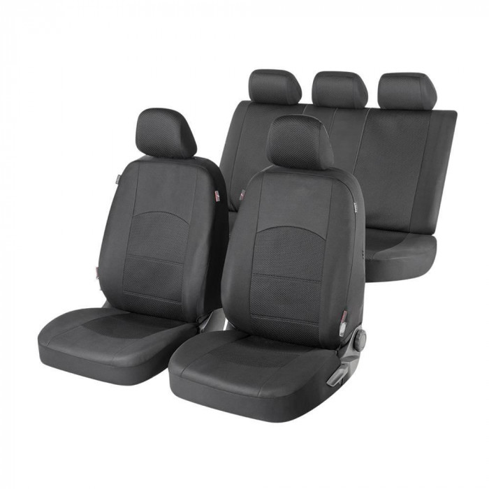 Huse auto Walser Derby,negru,16 piese,sistem zipp-it premium,side-airbag compatibil