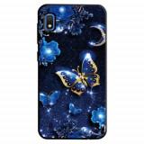 Cumpara ieftin Carcasa Husa Samsung Galaxy A10 model Golden Butterfly, Antisoc + Folie sticla securizata Samsung Galaxy A10 Tempered Glass Viceversa