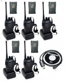 Set 5 buc Baofeng BF 888S cu 10 acumulatori 1500 mAh + Bonus Cablu+CD programare