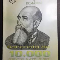 BNR - Pliant - Bancnota de 10.000 lei Emisiunea 1999