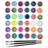 Set 36 geluri UV Color cu Sclipici ENS PRO + CADOU, Fraulein38