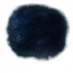 Caciula usoara si calduroasa de blana, in nuanta de bleumarin