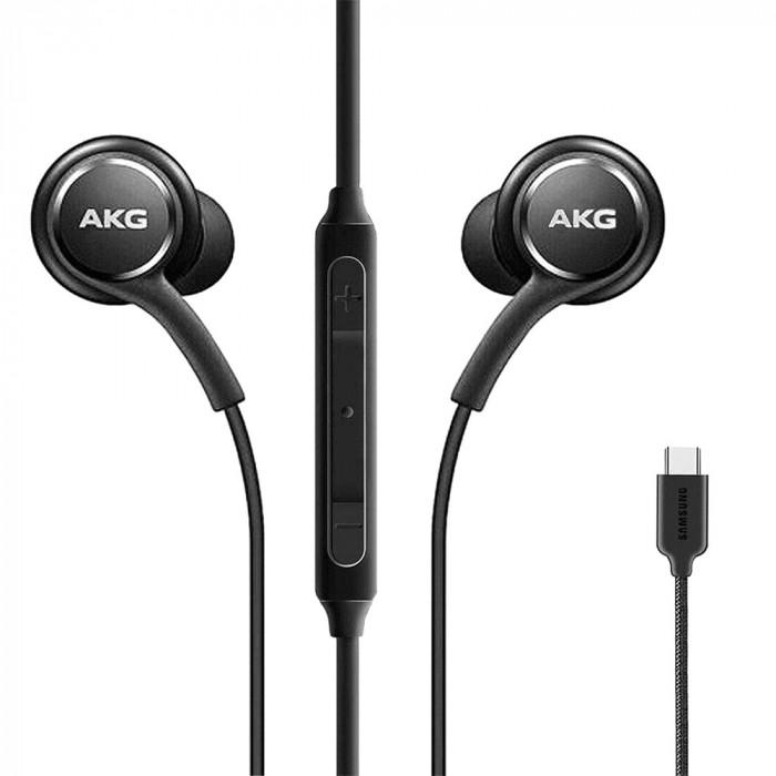 Casti Audio By AKG In Ear, Microfon, Buton Control, Conector USB Type-C, Bulk (Fara Ambalaj), Negru