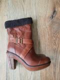Botine superbe TIMBERLAND BootCompany premium originale handmade piele 38/39, Coniac, Piele naturala