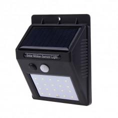Cumpara ieftin Proiector LED Cu Panou Solar si Senzor de Miscare DX10 Lampa 20 LED-uri