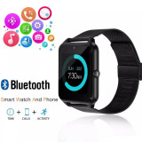 Ceas Smartwatch cu Telefon iUni Z60, Curea Metalica, Touchscreen, Camera, Notificari, Antizgarieturi, Aluminiu