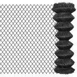 Gard plasă de sârmă, gri, 25 x 1,25 m, oțel, vidaXL
