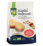 Biscuiti Bio din faina de grau spelta, cu unt si migdale, 125g Bohlsener Muhle