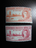 NORTHERN RHODESIA 1946 SERIE GEORGE VI MH, Nestampilat
