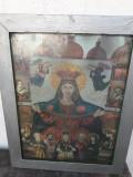 Icoana romaneasca litografie color veche