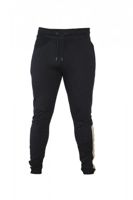 Pantaloni barbati Vanquish Fitness Panel Jogger Negru XXL