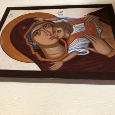Icoană pictată pe lemn