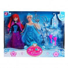 Set 2 papusi Ice Princess, 30 cm, accesorii incluse