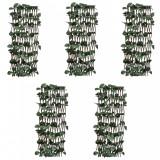 Garduri cu zăbrele, frunze artificiale, 5 buc.,180x60cm, salcie, vidaXL