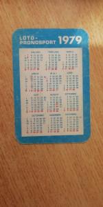 CCO - CALENDARE FOARTE VECHI - ANUL 1979 - NR 6