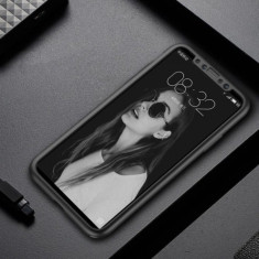 Husa protectie 360 pentru Iphone 6 Plus, silicon, negru, Gonga