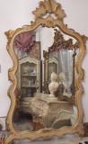 Oglinda vintage/antic,baroc venetian/Ludovic,pictata,Italia, Dupa 1950