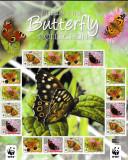 Marea Britanie - Man - Fauna WWF - FLUTURI - KB XXXL - nestampilat