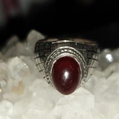 inel argint 925 model ghiul CU PIATRA DE CARNEOL, mărime.mica