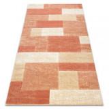Covor Feel 5956/17951 dreptunghiuri bej/teracotă, 80x150 cm, Dreptunghi, Polipropilena