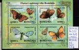 2002 Fluturi Endemici din Romania Bl. 322 LP 1591 MNH, Sport, Nestampilat