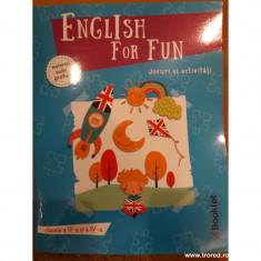 English for fun. Jocuri si activitati clasele a III-a si a IV-a