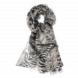 Esarfa matase, print zebra