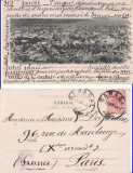 Husi (jud.Vaslui) - Vedere generala -clasica,  rara, Circulata, Printata