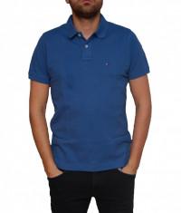Tricou Tommy Hilfiger True Navy Slim Fit, Slim Fit, culoare Albastru, marime M foto