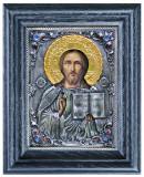 Icoane argintate, Icoana Mantuitorul Iisus Hristos, dim 16cm x 20cm, cod A-17